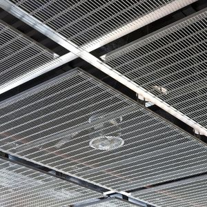 stainless steel suspended ceiling / wire mesh / panel