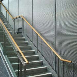 metal wallcovering / for public spaces / textured / metal look
