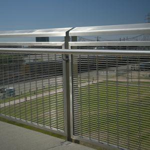metal railing / perforated sheet metal / wire mesh / outdoor
