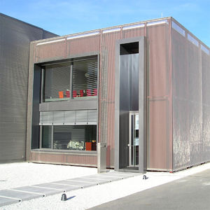 mesh cladding / stainless steel / textured / incombustible