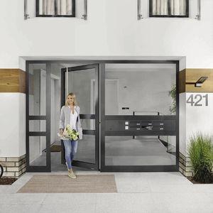 entry door / swing / glass / aluminum