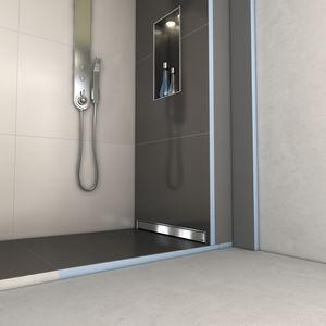 rectangular shower base / recessed / fiberglass / concrete