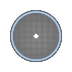 round shower base / ready-to-tile / fiberglass / concrete