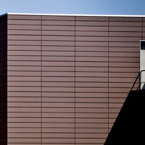 strip cladding / clay / embossed / tile look
