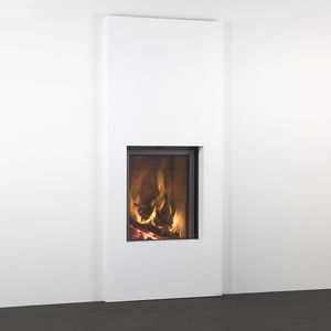 closed wood hearth