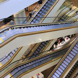 shopping center escalator