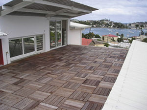 wooden deck slab