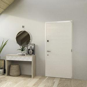 entry door / swing / sheet steel / armored