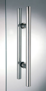 glass door handle / metal / contemporary / home