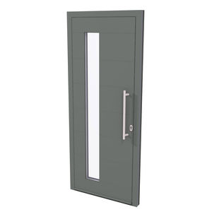 entry door / swing / aluminum / insulated