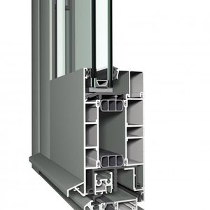 aluminum door profile / security / thermally-insulated / high-resistance