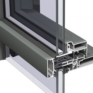 spandrel curtain wall / aluminum and glass