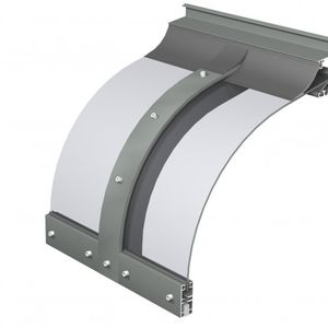entrance canopy / polycarbonate / aluminum / arched