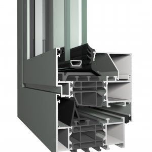aluminum window profile / thermally-insulated / acoustic / burglar-proof