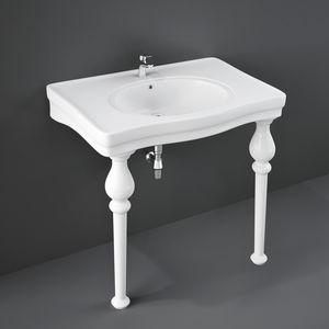 countertop washbasin / oval / ceramic / classic