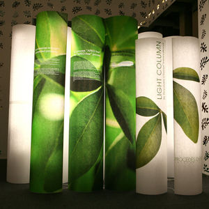 contemporary light column / PVC / LED / indoor