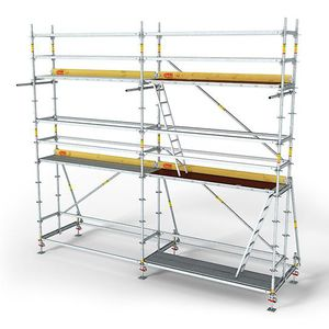 metal scaffolding / high
