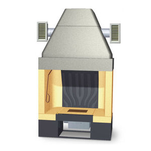 open wood hearth / 1-sided / metal / for fireplaces