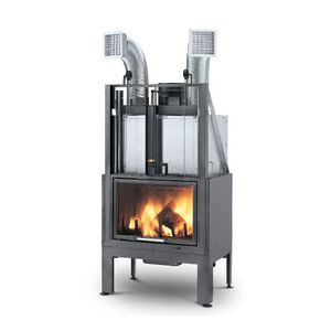 closed wood hearth / 1-sided / cast iron