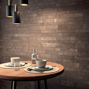indoor mosaic tile / wall / porcelain stoneware / natural finish