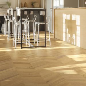 engineered parquet floor / glued / oak / matte