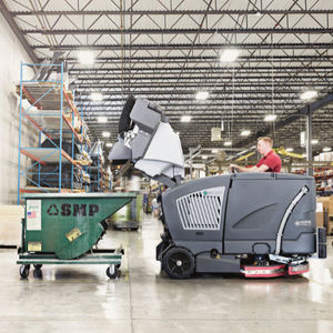 ride-on power sweeper-scrubber