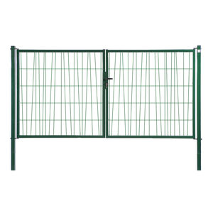 swing gates / galvanized steel / wire mesh / home