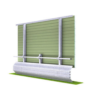 noise barrier with modular panels / prefab / self-supporting / galvanized steel