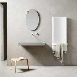 hot water towel radiator / electric / aluminum / contemporary
