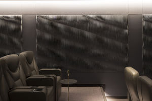fabric decorative panel / wall-mounted / absorption / sound-absorbing