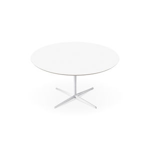 contemporary dining table / MDF / aluminum / round