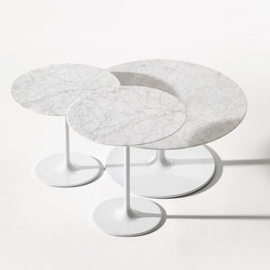 contemporary bistro table / lacquered steel / laminate / MDF