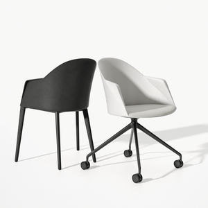 sled base visitor chair / contemporary / with armrests / upholstered