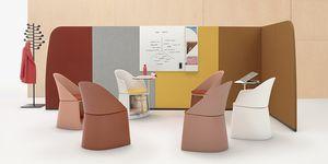 floor-mounted office divider / fabric / modular