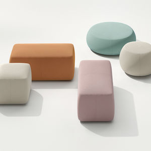 contemporary pouf / fabric / leather / synthetic leather