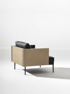 contemporary armchair / fabric / leather / by Jean-Marie Massaud