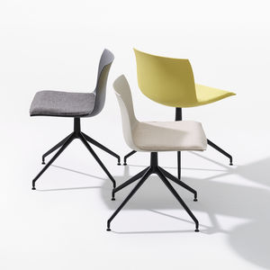 contemporary chair / upholstered / on casters / star base
