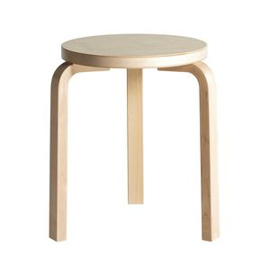 contemporary stool / plywood / birch / fabric