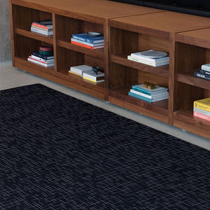 contemporary rug / striped / synthetic fiber / rectangular