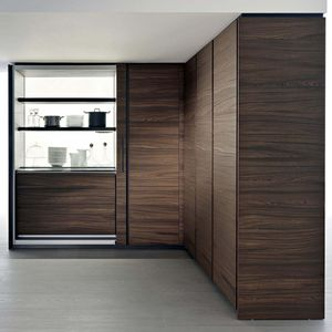 contemporary storage cabinet for kitchen / Fenix NTM® / laminate / lacquered metal