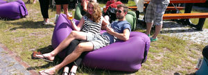 contemporary bean bag / nylon / inflatable / commercial