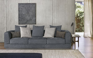 contemporary sofa / fabric / leather / by Carlo Colombo