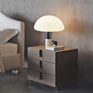 contemporary bedside table / wooden / metal base / rectangular