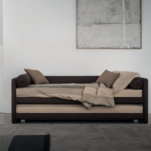 pull-out bed / single / contemporary / with drawer