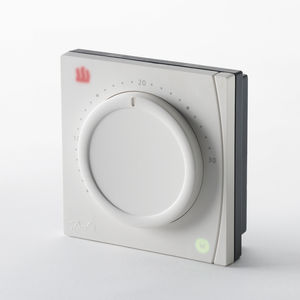 room thermostat / wall-mounted / for heating / smart