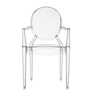 contemporary chair / with armrests / stackable / medallion