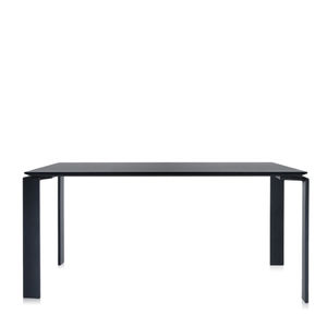 contemporary table / painted steel / painted steel base / rectangular