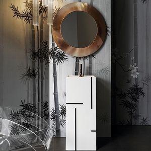 wall-mounted mirror