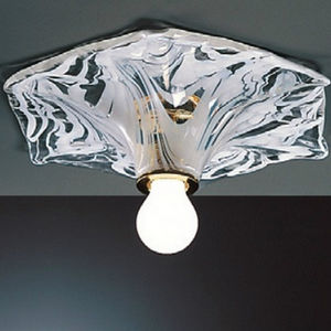 contemporary ceiling light / hexagonal / blown glass / incandescent