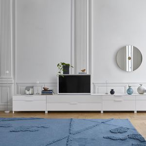 contemporary TV cabinet / hi-fi / lacquered wood / cherrywood